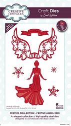 Sue Wilson Designs - Die - Festive Collection Christmas Angel 2020 Craft Die