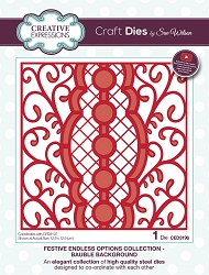 Sue Wilson Designs - Die - Festive Collection Bauble Background die