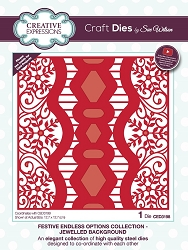 Sue Wilson Designs - Die - Festive Collection Jewelled Background die