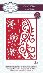 Sue Wilson Designs - Die - Festive Collection Snowflakes & Swirls die