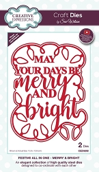Sue Wilson Designs - Die - Festive Collection Merry & Bright die