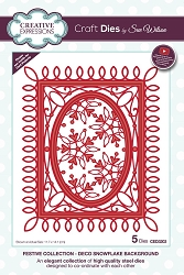 Sue Wilson Designs - Die - Festive Collection Deco Snowflake Background die