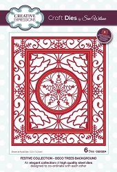 Sue Wilson Designs - Die - Festive Collection Deco Trees Background die