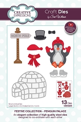 Sue Wilson Designs - Die - Festive Collection Penguin Palace die