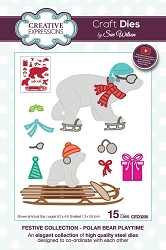 Sue Wilson Designs - Die - Festive Collection Polar Bear Playtime die