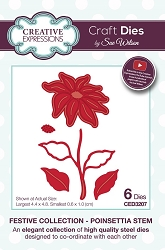 Sue Wilson Designs - Die - Festive Collection Poinsettia Stem die