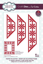 Sue Wilson Designs - Die - Festive Collection Snowflake Adjustable Frame die