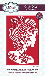 Sue Wilson Designs - Die - Festive Collection Perfect Portraits Snowflake Silhouette die