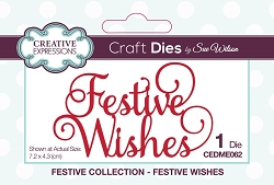 Sue Wilson Designs - Die - Festive Wishes Mini Expressions Die
