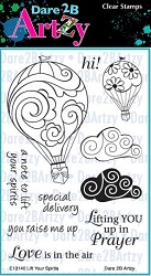 Dare 2B Artzy - Clear Stamp - Lift Your Spirits