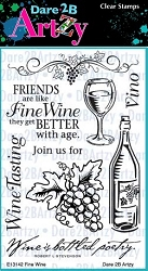 Dare 2B Artzy - Clear Stamp - Fine Wine