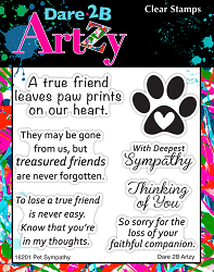 Dare 2B Artzy - Clear Stamp - Pet Sympathy