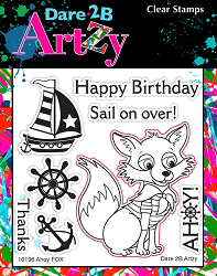 Dare 2B Artzy - Clear Stamp - Ahoy Mate Fox