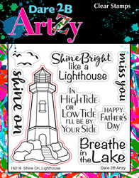 Dare 2B Artzy - Clear Stamp - Shine On Lighthouse
