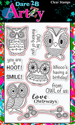 Dare 2B Artzy - Clear Stamp - Hoot Hoot