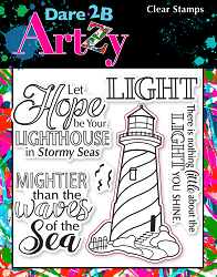 Dare 2B Artzy - Clear Stamp - Hope Lighthouse