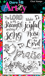 Dare 2B Artzy - Clear Stamp - Joyful Noise