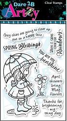 Dare 2B Artzy - Clear Stamp - April Showers