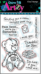 Dare 2B Artzy - Clear Stamp - Teddy Bear Hug