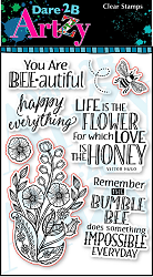 Dare 2B Artzy - Clear Stamp - Bee-utiful