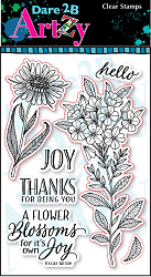 Dare 2B Artzy - Clear Stamp - Blossom