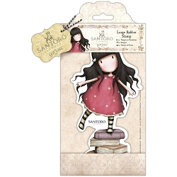 Do Crafts/Santoro - Gorjuss Girls - Cling Mounted Rubber Stamp - Large New Heights