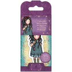 Do Crafts/Santoro - Gorjuss Girls - Cling Mounted Rubber Stamp - No 22 Pulling On Your Heart Strings