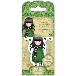 Do Crafts/Santoro - Gorjuss Girls - Cling Mounted Rubber Stamp - No 26 The Scarf