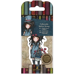 Do Crafts/Santoro - Gorjuss Girls - Cling Mounted Rubber Stamp - No 29 The Hatter
