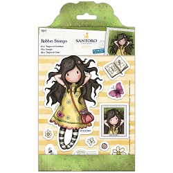 Do Crafts/Santoro - Gorjuss Girls - Cling Mounted Rubber Stamp - Spring at Last