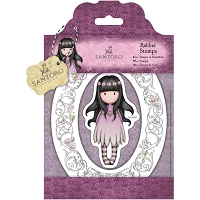 Do Crafts/Santoro - Gorjuss Girls - Cling Mounted Rubber Stamp - Oops A Daisy