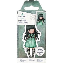 Do Crafts/Santoro - Gorjuss Girls - Cling Mounted Rubber Stamp - #47 I Stole Your Heart