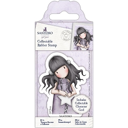 Do Crafts/Santoro - Gorjuss Girls - Cling Mounted Rubber Stamp - #55 All These Words