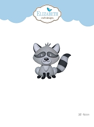Elizabeth Craft Designs - Die - Raccoon