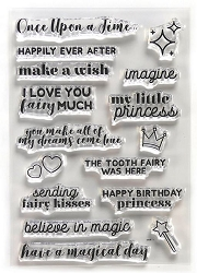 Elizabeth Craft Designs - Clear Stamp - Once Upon a Time Sentiments