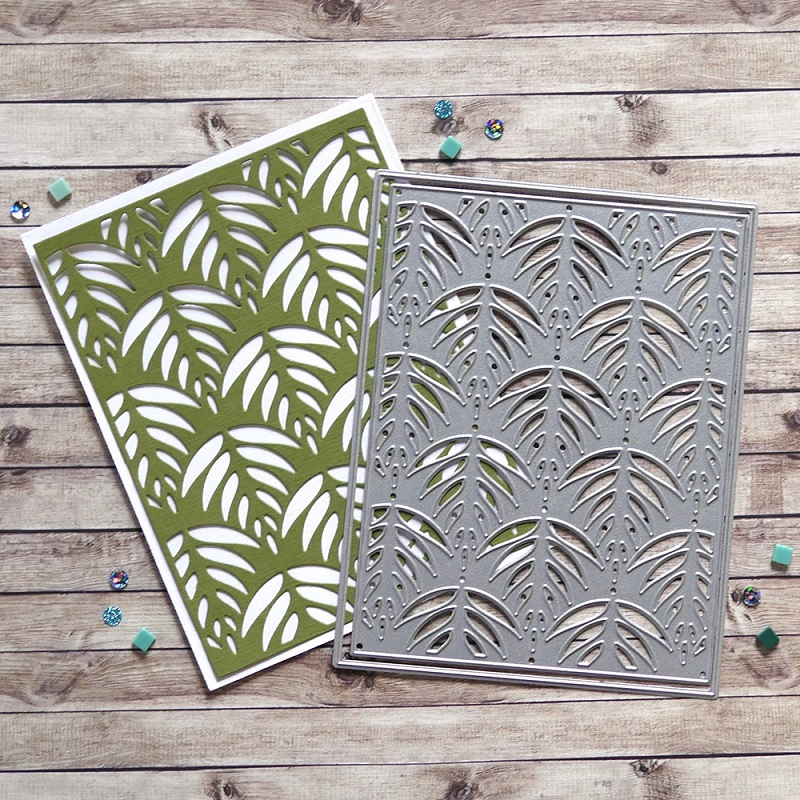 Elizabeth Craft Designs Die Leaf Pattern Background