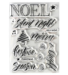 Elizabeth Craft Designs - Clear Stamp - Noel