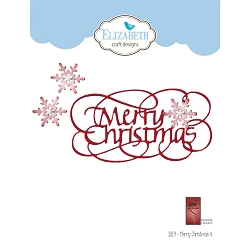 Elizabeth Craft Designs - Die - Merry Christmas 4