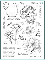Gina K Designs - Clear Stamp - Stately Flowers 9