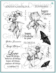 Gina K Designs - Clear Stamp - Stately Flowers 8