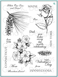 Gina K Designs - Clear Stamp - Stately Flowers 6