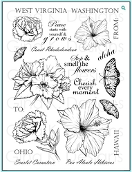 Gina K Designs - Clear Stamp - Stately Flowers 4