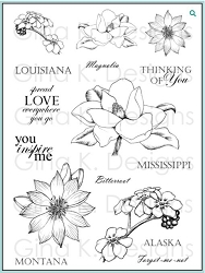 Gina K Designs - Clear Stamp - Stately Flowers 3