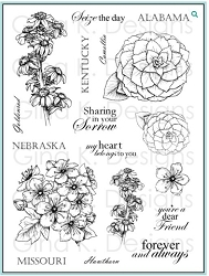 Gina K Designs - Clear Stamp - Stately Flowers 2