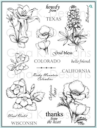 Gina K Designs - Clear Stamp - Stately Flowers 1