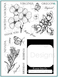 Gina K Designs - Clear Stamp - Stately Flowers 10