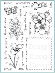 Gina K Designs - Clear Stamp - Stately Flowers 11