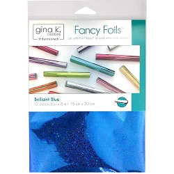 Gina K Designs - Brilliant Blue Holographic Fancy Foils