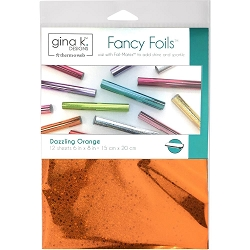 Gina K Designs - Dazzling Orange Holographic Fancy Foils