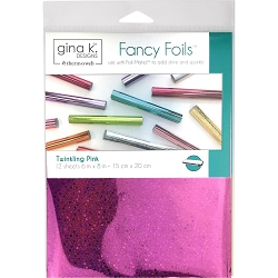 Gina K Designs - Twinkling Pink Holographic Fancy Foils